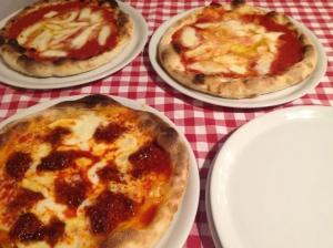 Pizza margherita e pizza nduja